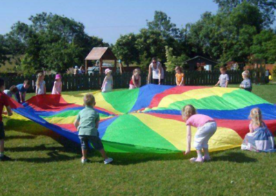 Kids Playing Colour Blanket Summer Camps at Mellowes Adventure Centre Athboy